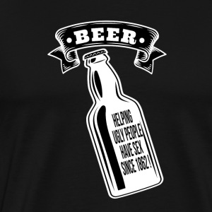 Beer helping ugly poeple - T-shirt Premium Homme