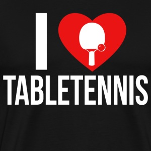 I LOVE TABLETENNIS WHITE - Männer Premium T-Shirt