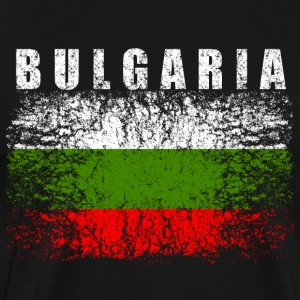 Bulgaria Flag Gamle 008 runde design - Premium T-skjorte for menn