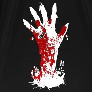 Zombie Hånd Halloween Horror Blood Cemetery Monster - Premium T-skjorte for menn