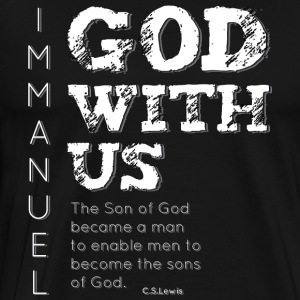 Immanuel, God with us true christmas meaning - Men's Premium T-Shirt