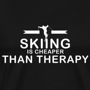 Skiën is goedkoper dan therapie - Mannen Premium T-shirt