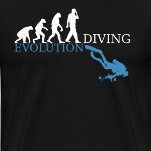 evolution Dykning - Premium-T-shirt herr