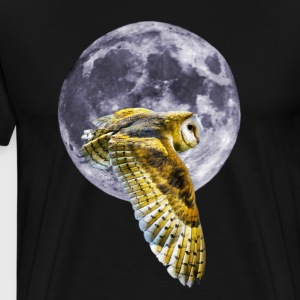 Owl and Moon - Men's Premium T-Shirt