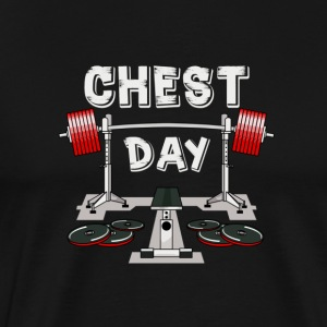 BODYBUILDING | CHEST DAY - Mannen Premium T-shirt