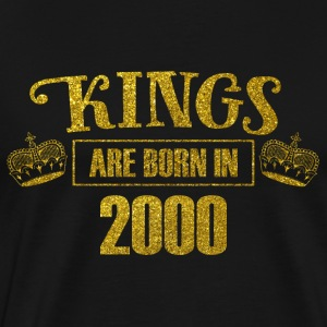 Kings are born in 2000 - Birthday Koenig Gold - Men's Premium T-Shirt