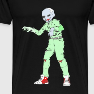 Zombie Collection: Zombie Man - Premium T-skjorte for menn