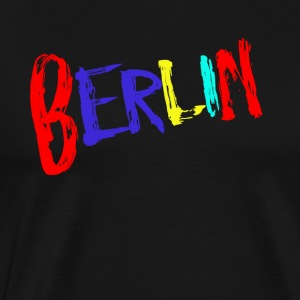 Berlin lettering colorful - Men's Premium T-Shirt