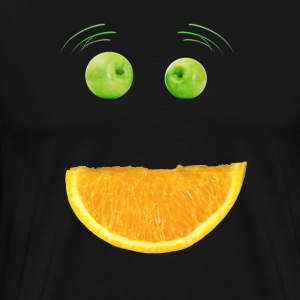 Monster ansikte Humor Frukt Apple Vegan rolig mun - Premium-T-shirt herr
