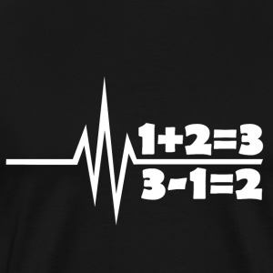 My heart beats for mathematics - algebra school - Men's Premium T-Shirt