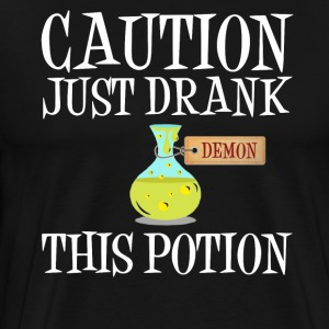 Forsiktig! Demon Devil Halloween potion demoner - Premium T-skjorte for menn