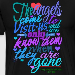 The angels come to visit us (for dark colors) - Men's Premium T-Shirt