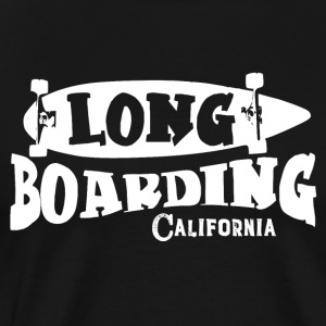 LONG BOARDING CALIFORNIA - Premium-T-shirt herr