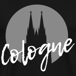 Cologne Cologne Cologne Cathedral with modern writing - Men's Premium T-Shirt