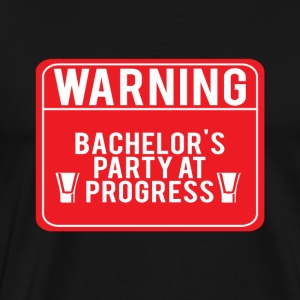 JGA / Bachelor: Warning! Bachelor's - Men's Premium T-Shirt