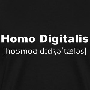 Homo Digitalis (2250) - Premium T-skjorte for menn