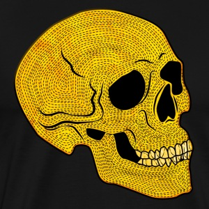 YellowSkull - Premium T-skjorte for menn