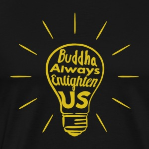 Buddha Enlighten oss - Premium T-skjorte for menn