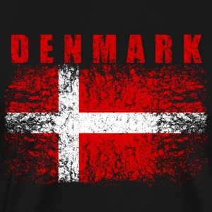 Danmark flagg 008 allround Design - Premium T-skjorte for menn