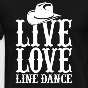 Line Dance - Premium T-skjorte for menn