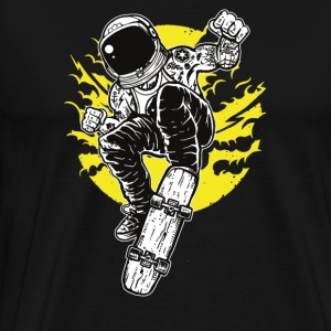 Astronaut Space Skater: Fly with skateboard! - Men's Premium T-Shirt
