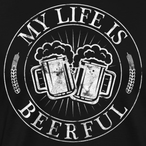 My life is Beerful - beer shirt for men - Men's Premium T-Shirt