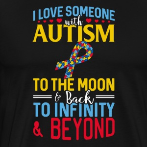 I love someone with Autism to the moon and back - Männer Premium T-Shirt