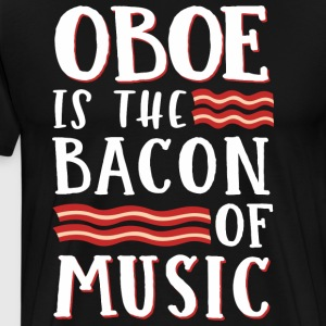 Obo Er Bacon Of Music - Herre premium T-shirt