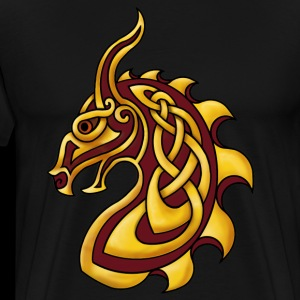 Celtic Dragon Red Gold