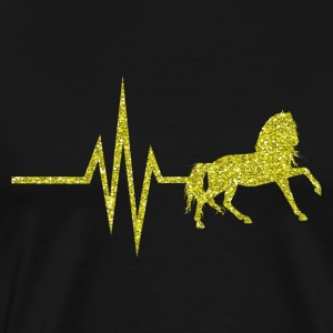 My heart beats for horses - horse gold glitter - Men's Premium T-Shirt