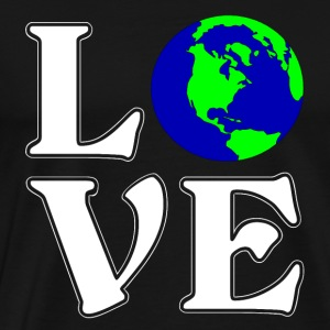 I love the world - travel - gift - Men's Premium T-Shirt