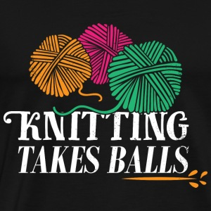 Stickning take bollar - Premium-T-shirt herr
