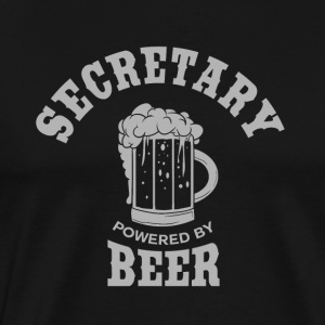 SECRETARY powered by BEER - Men's Premium T-Shirt