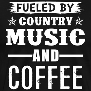 Fueled By Country Music And Coffee - Maglietta Premium da uomo