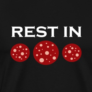 Rest in pepperoni - Herre premium T-shirt