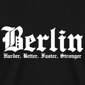 Berlin Harder, Better, Faster, Stronger kapital - Herre premium T-shirt