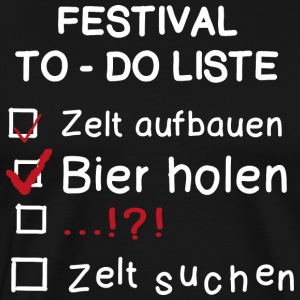 Festival TO-DO Liste - Männer Premium T-Shirt