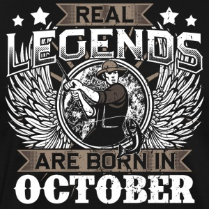 Gift Birthday fishing legends October - Men's Premium T-Shirt