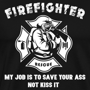 Firefighter Tshirt-Kiss it - Männer Premium T-Shirt