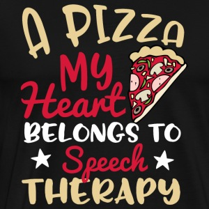 A Pizza My Heart Belongs To Speech Therapy - Men's Premium T-Shirt