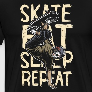 Skate Eat Sleep Repeat: ultimate skater shirt - Men's Premium T-Shirt