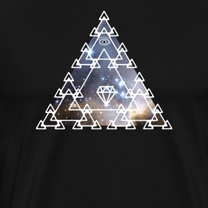 Illuminati Nerd Triangle Game piramide oog Space - Mannen Premium T-shirt