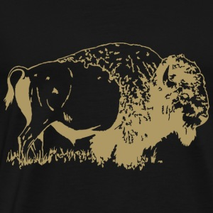 Animals Bison - Men's Premium T-Shirt