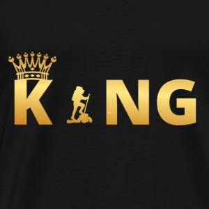 gift king king god hiking hike hiking - Men's Premium T-Shirt
