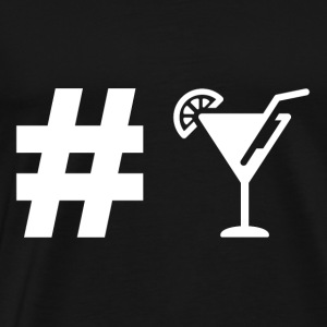 Hashtag Cocktail - Drinks - Drink Party gift - Men's Premium T-Shirt