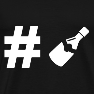 Hashtag wine - wine lover - gift - drinker - Men's Premium T-Shirt