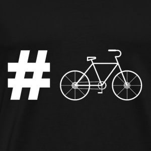 Hashtag bicycle cyclist gift racing bike - Men's Premium T-Shirt
