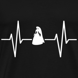My heart beats for marriage! present - Men's Premium T-Shirt