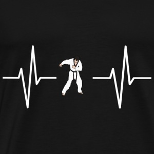 My heart beats for karate! present - Men's Premium T-Shirt