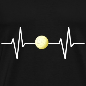 My heart beats for volleyball! present - Men's Premium T-Shirt